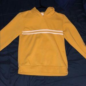 Yellow varsity hoodie
